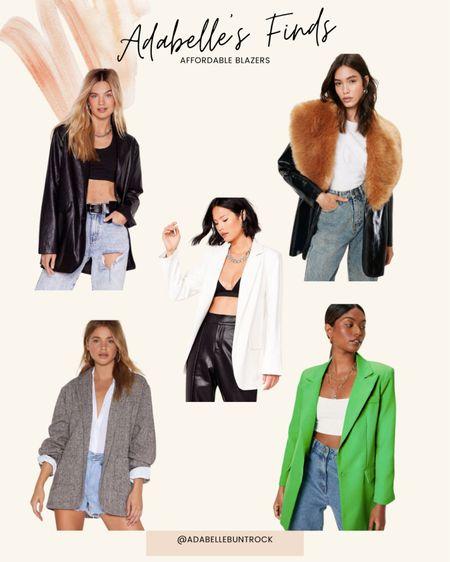 Affordable Blazers nastygal  #LTKunder100 #LTKSeasonal #LTKunder50