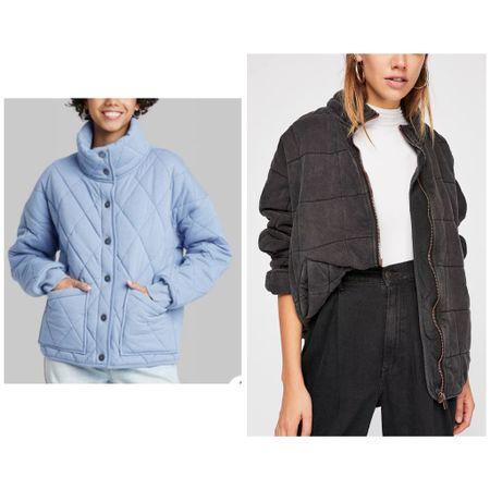 Target finds. Target style. Women's Button-Front Quilted Jacket. Free People Dolman Quilted Jacket. Outerwear. Under 50.   #LTKstyletip #LTKunder50 #LTKSeasonal