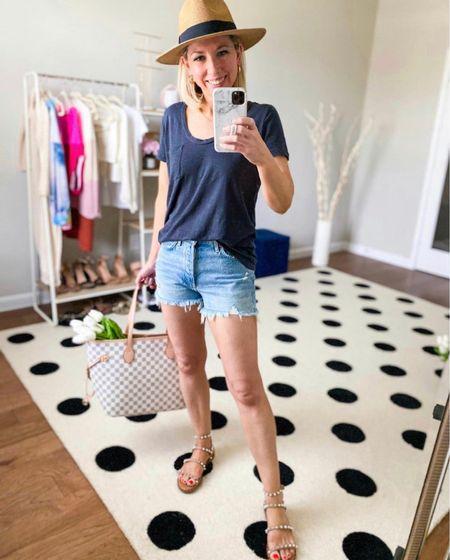 Favorite tee on sale!  Love this one so much - I have in three colors.  Wearing in small, true to size        T-shirt, jean shorts, nordstrom, nordstrom anniversary sale, #ltkitbag, #nsale NSALE , sandals #ltkshoecrush  #LTKunder50 #LTKsalealert #LTKSeasonal  #LTKunder50 #LTKSeasonal #LTKsalealert