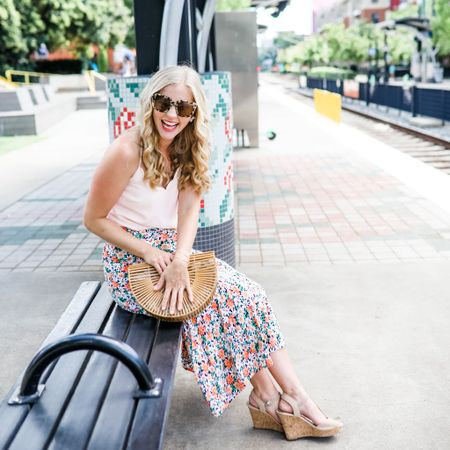 Amazon fashion finds Amazon skirt Amazon summer bag wicker hand bag rattan purse