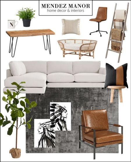 We had so much fun designing this minimal but still cozy family living room. We kept the color palette neutral but added lots of layers and texture.   3D Virtual design services available at mendezmanor.com