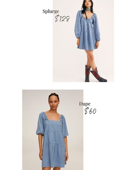 The cutest denim dresses... and the best part - they're on sale! Can you say trendy modern cow girl!? Shop my daily looks by following me on the LIKEtoKNOW.it shopping app http://liketk.it/2W1SP @liketoknow.it #liketkit #LTKsalealert #LTKunder100 #LTKunder50