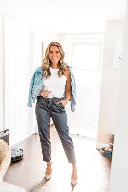 Looking for a great pair of work pants?! Here's an option! AND they're on sale! 🙌🏻 this color is available in limited sizes but there's 3 other color options! I'm wearing size small!   #LTKunder100 #LTKsalealert #LTKunder50