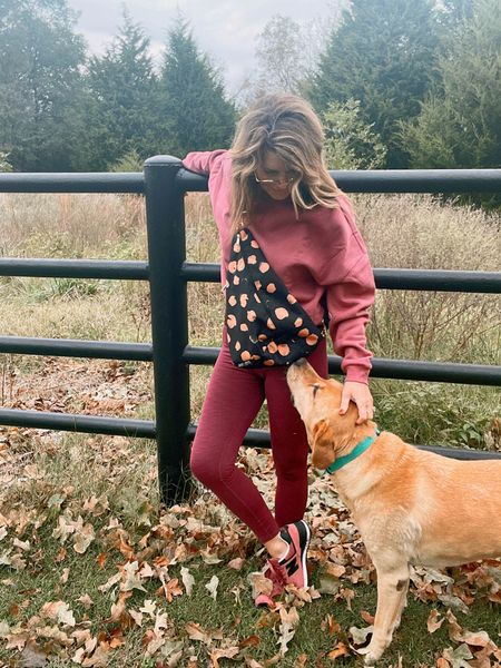 The perfect fall morning for an early morning walk! Can you guess what I like to carry in my sling bag? The dogs know 😉 Today is the last day to shop our co-branded print with @loganandlenora on any of our 7 bags. Use code SPOILEDHOME10 at checkout for 10% off 🙌🏼 The bags will be available until midnight to order ❤️ linking everything in the @shop.ltk app #fallfashion #loganandlenora #thespoiledhome  #LTKGiftGuide #LTKstyletip #LTKshoecrush