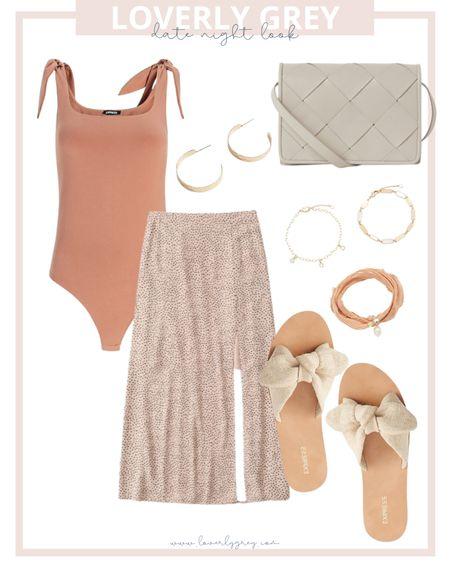 Loverly grey styled look! Pair a bodysuit with a leopard skirt and sandals.   #LTKsalealert #LTKDay #LTKstyletip