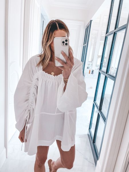 This tunic is so cute for a summer event! Wearing size small   #LTKunder100