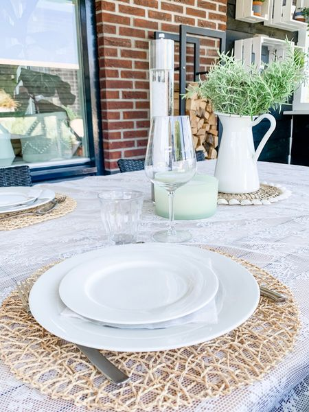Setting the table for the first barbecue this season (can you believe it?   #LTKhome #LTKSeasonal #LTKeurope