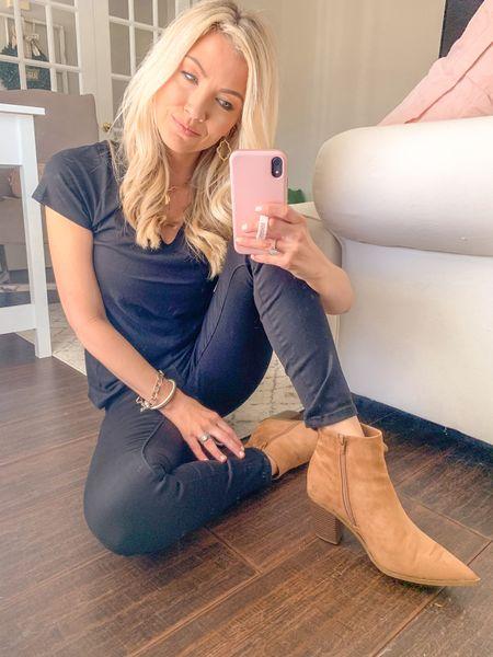 Black basics with booties.  Jeans-size 25 Booties-8  @liketoknow.it #liketkit #LTKstyletip #LTKunder100 #LTKshoecrush http://liketk.it/3avls Shop my daily looks by following me on the LIKEtoKNOW.it shopping app