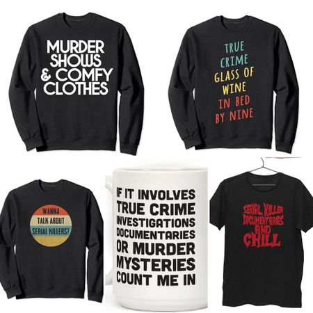 Any other true crime junkies out there? 🔪 🩸 Amazon has some surprisingly funny sweatshirts + tees to let the world know you're down chat serial killers at any moment.   #StayHomeWithLTK #LTKFall #LTKunder50
