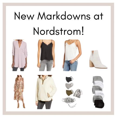Hurry! 👏🏼 Nordstrom Annual Sale may be over, but I literally just left the store, and they still have a lot of markdowns left. I linked some of my faves below, like this henley tunic, lace trim cami, mule shoes, midi dress, and this cozy sherpa hoodie 💕  http://liketk.it/2XVz7 #liketkit @liketoknow.it     #LTKFall #StayHomeWithLTK #LTKsalealert