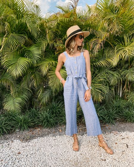 PSA: this linen jumpsuit is the best thing I've bought in a long time 🙌🏼 fits TTS and is SO comfy! http://liketk.it/3dPKK #liketkit @liketoknow.it #LTKunder100 #LTKstyletip #LTKshoecrush