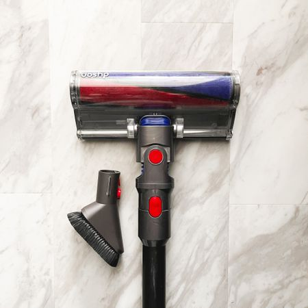 I consider my cordless vacuum one of the main tools in my housekeeping tool belt. Not every model comes with my favorite attachments for hard floors and dusting surfaces though. So I've attached them here if your model is missing these essential pieces!  Added in my bathroom cleaning essentials too for those asking!  Follow me on the LIKEtoKNOW.it shopping app to get the product details for this look and others @liketoknow.it @liketoknow.it.home #liketkit http://liketk.it/34OkY   #LTKhome