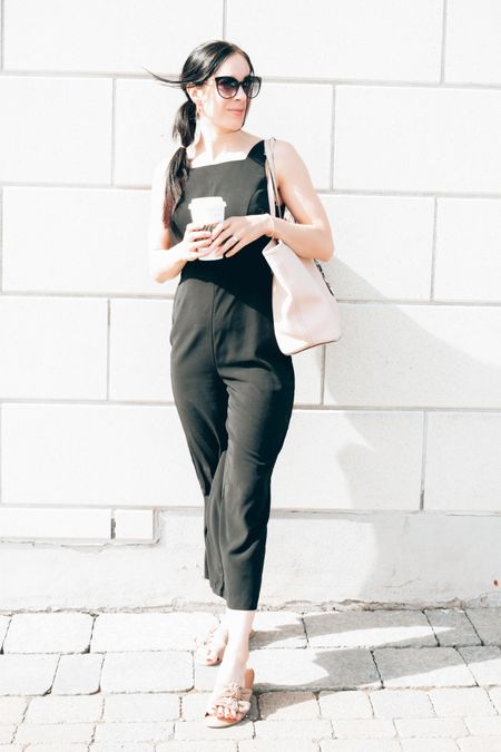 Coffee & Fridays are my favorite things!  ..and a black jump suit of course for dressy look. 🖤  #LTKunder50 #LTKSeasonal #LTKstyletip