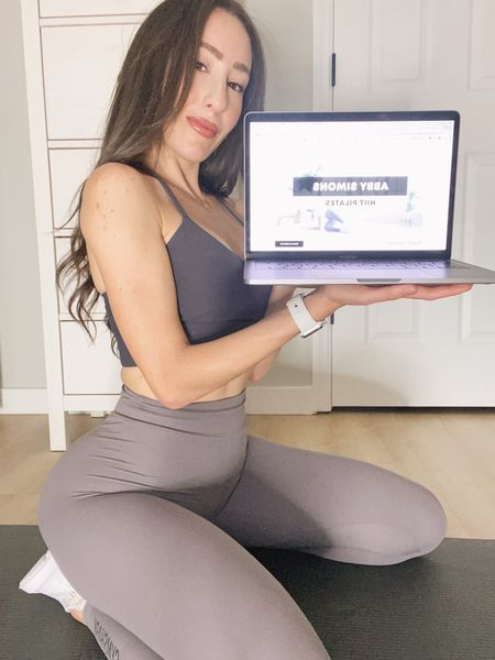 Comfy leggings for at home workouts! They are squat proof 👍🏼  #StayHomeWithLTK #LTKfit #LTKstyletip