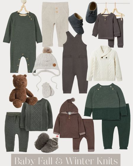 Baby fall and winter knits, baby booties and shoes, baby sweaters, teddy bear and more🤍    #LTKbaby #LTKHoliday #LTKunder50