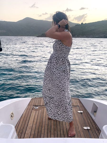 Trying to explain my viral tiktok to my parents and crew of this boat  is getting embarrassing. ✨ but good thing is this dress is under $30 amd not embarrassing whatsoever ✨ link in bio and in my stories http://liketk.it/3j980 #liketkit @liketoknow.it #LTKunder50 #LTKtravel #LTKeurope