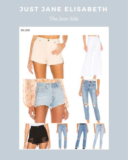 The Jean Edit: check out these cute new jeans ranging from $50-$100!! If you want to see more check out Just Jane Elisabeth! http://liketk.it/3aho0 #liketkit @liketoknow.it