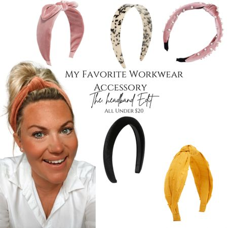 My go to workwear accessory that makes me look pulled together while keeping the hair out of my way !   #LTKworkwear #LTKsalealert #LTKstyletip
