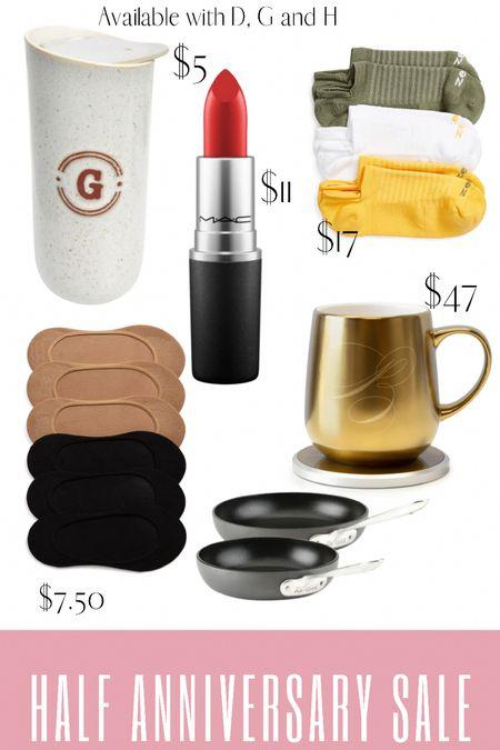 Nordstrom half anniversary sale home and beauty items. Socks on sale along with coffee mugs, all clad and mac red lipstick.   #LTKsalealert #LTKbeauty #LTKunder50
