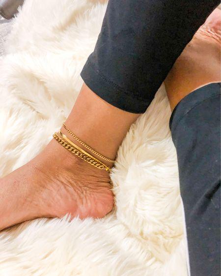 Gold anklet bracelets http://liketk.it/31ISf #liketkit @liketoknow.it