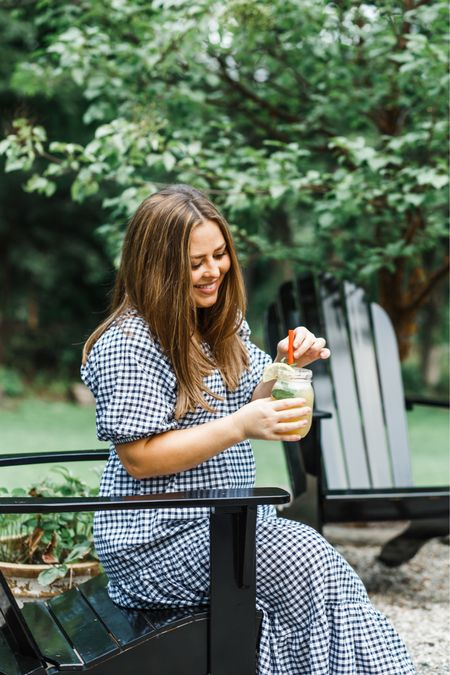 Fact: I do not love being pregnant in the summer, but I do love peach season and since I've been craving fruit and all things citrus nonstop with this bean, I'm just going to soak up all those juicy ripe peaches until the weather cools down.  Sharing my favorite peach-mint lemonade recipe over on the blog today and you guys, it's so good and so fresh.  Perfect to make for a summer soirée. 🍑 Still loving our outdoor furniture from @walmart we added earlier this summer, it's my favorite spot to sit and sit my lemonade.  Swipe for some super cute citrus inspired home pieces from @walmart!   #LTKtravel