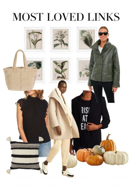 This week's bestsellers coats blazers bags totes throw pillows affordable wall art  #LTKstyletip #LTKGiftGuide #LTKitbag