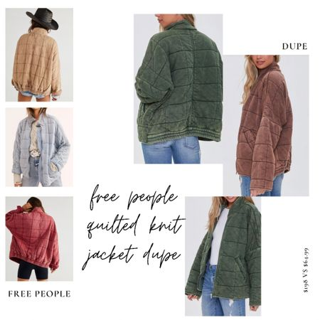 I ordered myself the Free People Dolman Quilted Knit Jacket last week after thinking about buying it for such a long time. (It's not cheap)   Today I noticed this dupe jacket for more than half the price. Worth a share!!!  #freepeople #quiltedjacket #dupe     #LTKstyletip #LTKSeasonal #LTKunder100  #LTKSeasonal #LTKstyletip #LTKunder100