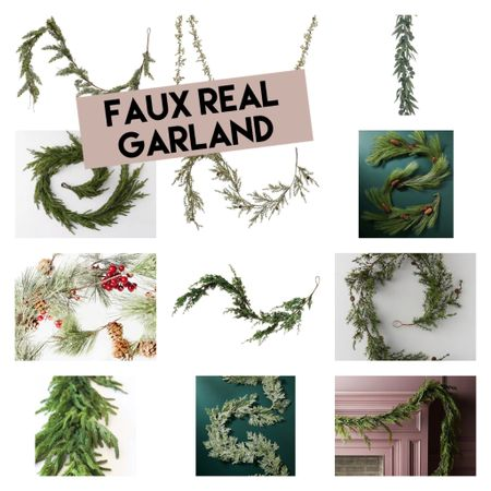 The prettiest #fauxreal pine, cedar, eucalyptus and more garlands for Christmas mantels, tables, and more! #ltkhome  #LTKunder50 #LTKSeasonal #LTKHoliday