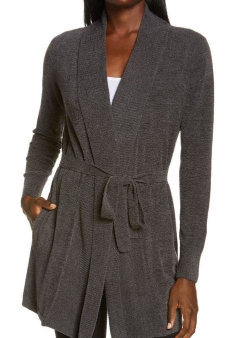 I have this barefoot dreams tie cardigan from last year and I LOVE it. I have a medium and could even love a large, so size up if in between.   #LTKhome #LTKunder100 #LTKsalealert