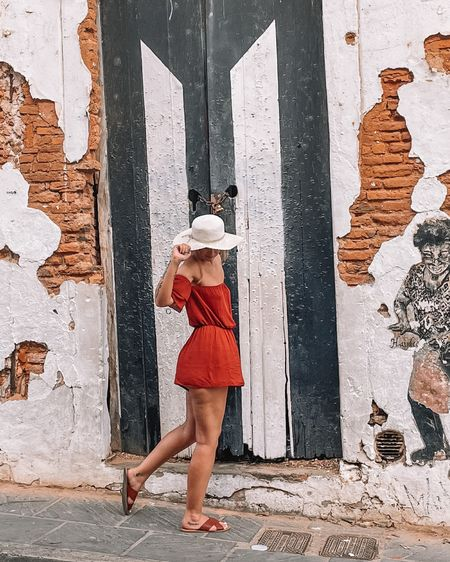 This romper is from Windsor and the floppy hat and brown sandals are from Target! Such a perfect outfit for spring and summer time! Wore this in Old San Juan! http://liketk.it/3ednJ #liketkit #LTKunder100 #LTKunder50 #LTKstyletip @liketoknow.it