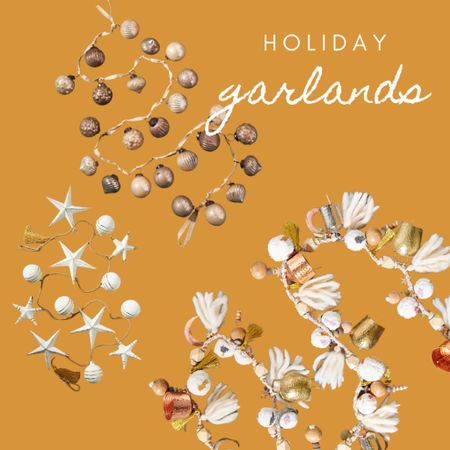 Christmas garlands, boho Christmas decor   #LTKstyletip #LTKhome #LTKHoliday