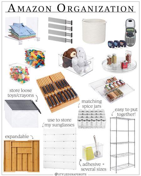 Amazon home organization products I love #LTKhome #LTKunder50 #LTKunder100 #liketkit @liketoknow.it http://liketk.it/3iief