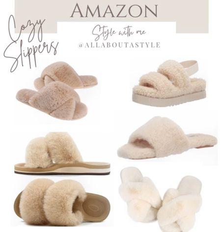 #cozy #soft #plush #slippers   #LTKSeasonal #LTKHoliday #LTKGiftGuide