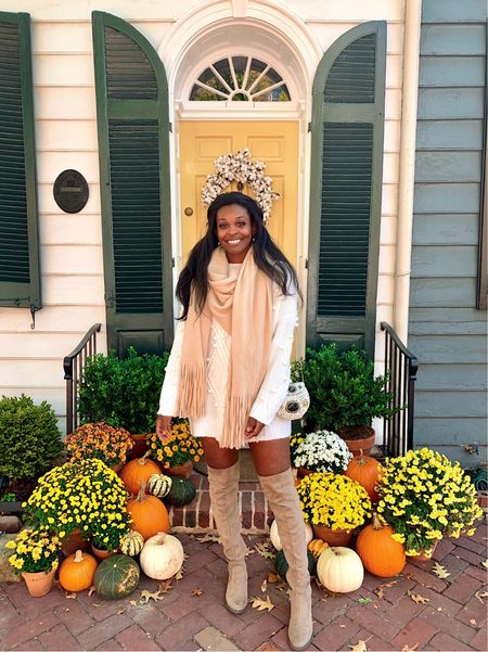One of my favorite fall photos ever honestly! Funny story: the first time I posted this, the owner of the townhouse and stoop saw it and commented back 🤪   #LTKstyletip #LTKunder50 #LTKSeasonal