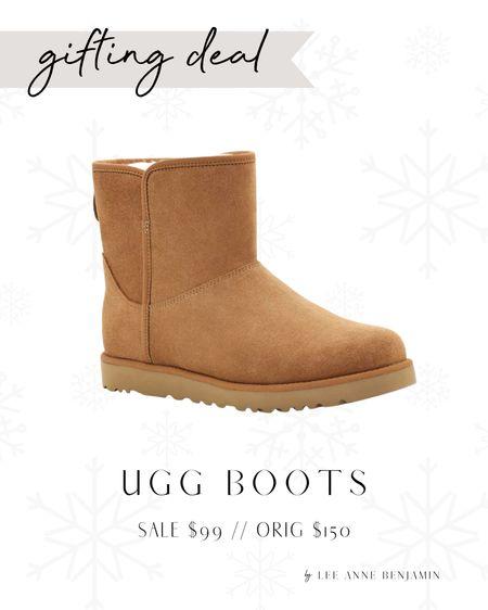 UGG boots deal! Gift idea!  Sale $99 // Orig $150 Also come in grey!  #LTKHoliday #LTKSeasonal #LTKGiftGuide