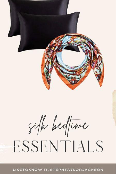 Head scarves, silk pillow case, scarf,   #LTKbeauty
