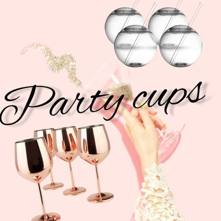 Party cups  Rose gold  Fishbowl cups   #LTKunder50 #LTKfamily #LTKhome