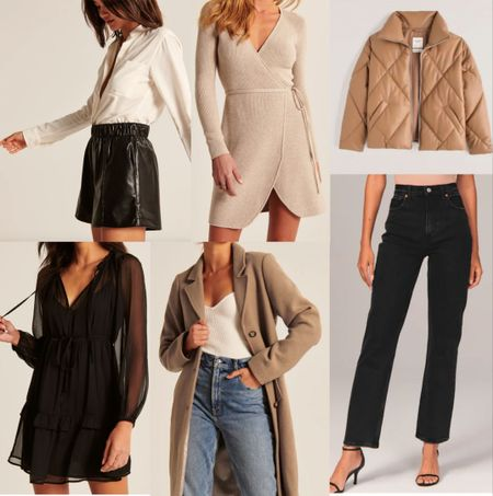 Abercrombie sale picks, black denim, black dress, wrap dress, sweater dress    http://liketk.it/3nVIL @liketoknow.it #liketkit  #LTKsalealert #LTKunder100 #LTKSale