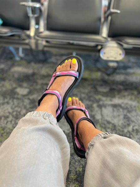 If you're looking for the perfect sandals for travel, walking or exploring on foot, these sandals are super comfy. I wore them for over 8 hours to Disney and now want to get  other colors too   #LTKtravel #LTKunder100 #LTKshoecrush