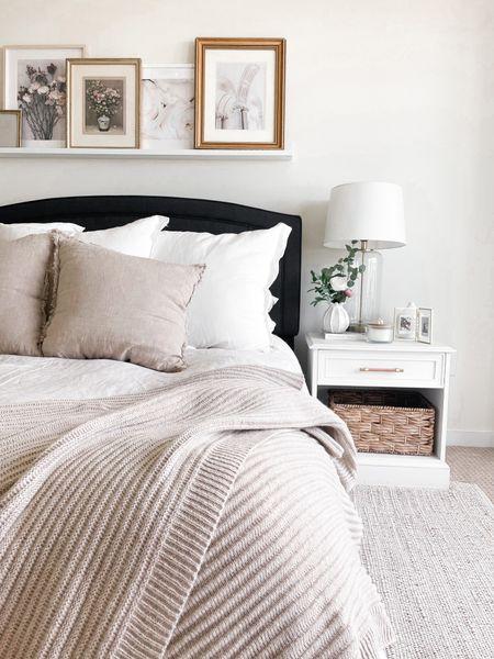 Bedroom gallery complete! Shop my nightstand decor, bedding and more.   #LTKhome #LTKunder50 #LTKunder100