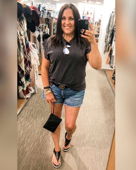 I totally took advantage of the department store mirror today. The lighting was much better than at my house. Anywayyy, I'm living in these shorts already this summer and they are under $20! Not to mention when I find a comfortable pair of sandals I live in those too. Plus, they are so cute!! 🙌 My wristlet, and shirt are linked as well, so tap the LIKEtoKNOWit link in my bio to shop my look.    🌿Shop my daily looks by following me on the LIKEtoKNOW.it shopping app  🌿Follow Noel_Naturally then tap on the photo you'd like to shop. 🌿THANK YOU!  http://liketk.it/3gIPR #liketkit @liketoknow.it #LTKshoecrush #LTKunder50 #LTKunder100