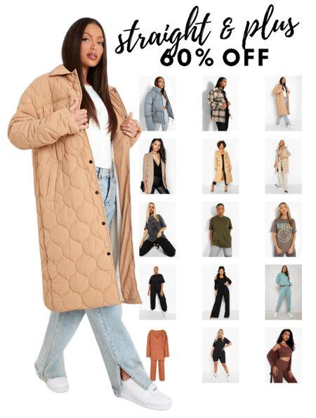 60% off straight & plus size styles at BOOHOO  #LTKunder50 #LTKsalealert #LTKHoliday