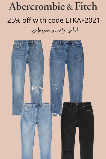 Abercrombie Curve love jeans, jeans for curves, plus size, gift ideas, black jeans, mom jeans, ripped denim,  #LTKunder100 #LTKsalealert #LTKHoliday