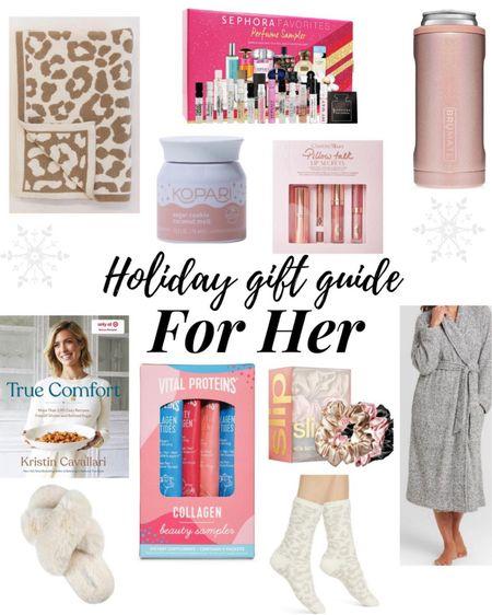 Holiday Gift Guide For Her ❤️ . . .  http://liketk.it/32CGC #liketkit @liketoknow.it #LTKsalealert #LTKunder50 #LTKunder100 holiday gift guide, gift guide, gift ideas, gift ideas for her, Christmas gifts for her, Christmas, candle, Capri blue candle, robe, target, target haul, perfume, Sephora, gift set, slippers, Amazon, Amazon find, cookbook, scrunchies, blanket, barefoot Dreams blanket, socks, barefoot Dreams socks, Nordstrom, vital proteins, Charlotte tilbury, lipstick, lipgloss, Christmas, gift guide, Black Friday, Black Friday sale, cyber Monday, cyber Monday sale, gifts for her, gift guide for her, stocking stuffers, slippers