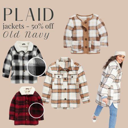50% off plaid (&sherpa) jackets for women, babies & kids!  #LTKfamily #LTKsalealert #LTKSeasonal