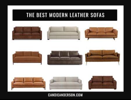 The best modern leather sofas. Square arm sofa. Grand sofa. Living room furniture. Living room inspiration. Living room inspo . ❤️  #LTKhome