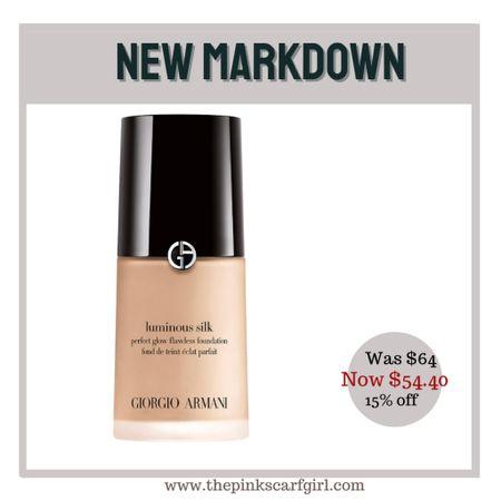 1 oz of Luminous Silk Perfect Glow Flawless Oil-Free Foundation smaller bottle of 0.6 oz ($37) also available    #LTKbeauty #LTKsalealert #LTKunder100