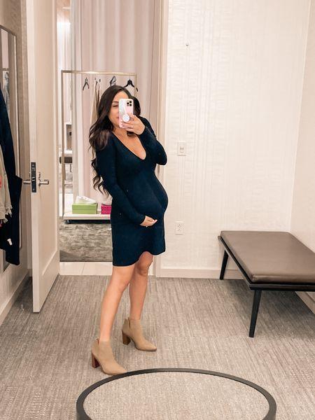 #nordstromanniversaysale #nordstrom #littleblackdress #maternitydress #maternity #babybump #fallfashion #bootie #boots   #LTKbump #LTKstyletip #LTKsalealert