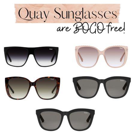 Quay sunglasses are BOGO free!  Summer | sunnies | frames    Shop your screenshot of this pic with the LIKEtoKNOW.it shopping app http://liketk.it/3b4xS #liketkit @liketoknow.it #LTKunder50 #LTKstyletip #LTKsalealert
