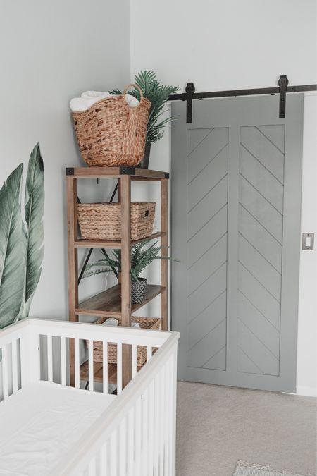 Nursery decor, gender neutral nursery, baby boy nursery, barn door, chevron barn door, home decor, nursery inspo   #LTKunder100 #LTKhome #LTKbaby